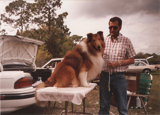 Brian with Collie